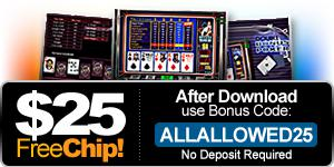 video poker - Free Chip