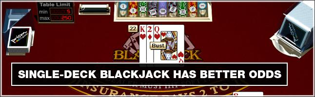 What's the Difference Between Single Deck and Double Deck Blackjack?