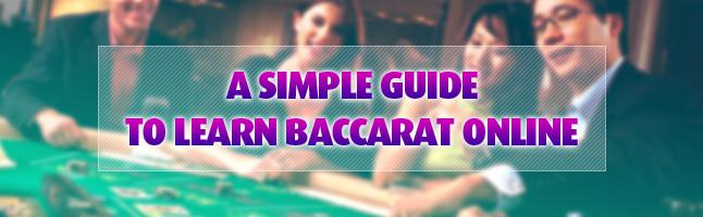 simple guide to learning baccarat online